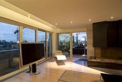 современная просторная квартира залы стоковые изображения rf