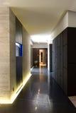 современная просторная квартира залы Стоковое фото RF