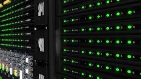 Современная работая комната сервера видеоматериал