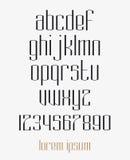 Современная различная линия шрифт Стоковые Изображения RF