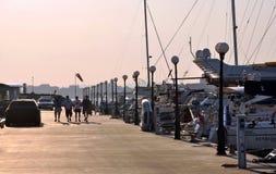 Современная роскошная яхта, 4 люд Стоковое Фото