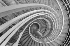 Современная спиральная лестница стоковые фотографии rf