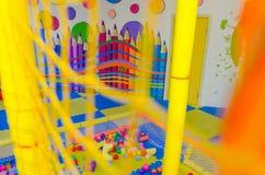 Современная спортивная площадка детей крытая Стоковое Изображение