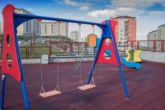 Современная спортивная площадка простого дизайна для детей Стоковое Изображение