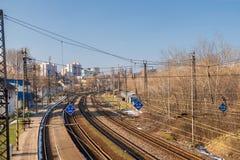 Современная станция словака в Братиславе, Lamac, Словакии Стоковые Изображения