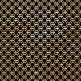 Современная стильная геометрическая картина с повторять вертикальные золотые волнистые линии Стоковое Изображение RF