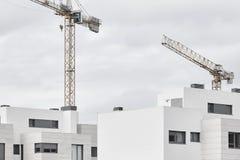 Современная структура машинного оборудования здания и крана Indu конструкции Стоковые Фото