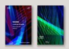 Современная технология striped абстрактный дизайн крышек Неон выравнивает bac бесплатная иллюстрация