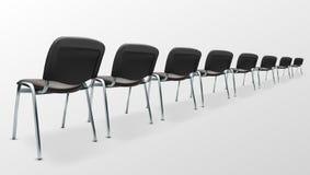 современная ткань черноты стула офиса 3D задний взгляд Стоковые Изображения RF