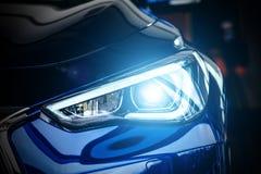 Современная фара лампы ксенона автомобиля стоковое фото rf
