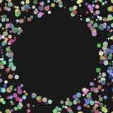 Современная хаотическая предпосылка точки - векторная графика от пестротканых кругов Стоковое Фото
