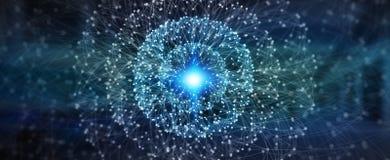 Современная цифровая сеть передачи данных Стоковое Изображение RF