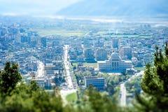 Современная часть города Berat Стоковое фото RF