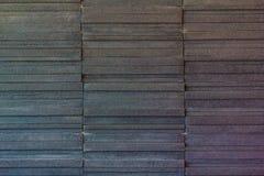 Современная черная кирпичная стена Стоковые Фотографии RF