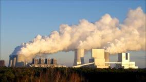 Современная электростанция Boxberg сток-видео