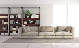 Современная яркая живущая комната Стоковая Фотография