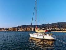 Современная яхта, Volos, Греция Стоковые Изображения RF