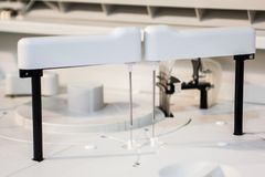 Современная robotical машина пробы крови Стоковые Изображения RF