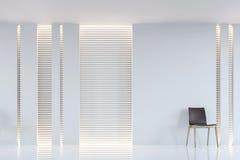 Современное белое изображение перевода 3d живущей комнаты внутреннее Стоковые Фотографии RF