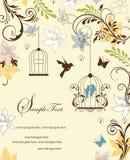 Современное голубое приглашение партии птицы Стоковое Изображение