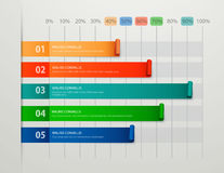 Современное дело шагает к шаблону вариантов диаграммы и диаграммы успеха Стоковое Изображение RF
