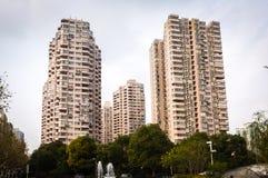 Современное жилое Шанхая, фарфора стоковая фотография