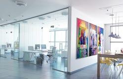 Современное зачатие офиса - визуализирование 3d иллюстрация штока