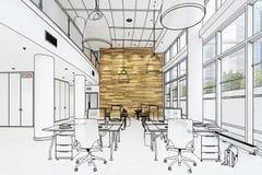 Современное зачатие 01 офиса проиллюстрировало иллюстрация вектора