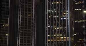 Современное здание со светами стоковые изображения