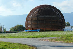 Современное здание в Cern, Женеве. Стоковые Изображения