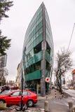 Современное здание дизайна шлюпки в Братиславе Стоковые Фотографии RF