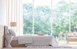 Современное изображение перевода спальни 3d Стоковое Изображение
