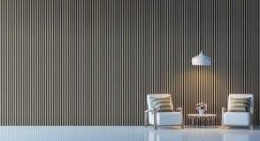 Современное изображение перевода 3d живущей комнаты внутреннее Стоковое Изображение