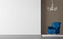 Современное изображение перевода 3d живущей комнаты внутреннее Стоковая Фотография RF