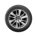 Современное изолированное колесо автомобиля кроссовера, вид спереди Стоковое Фото