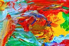 Современное искусство, абстрактная картина Стоковое фото RF