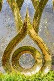 Современное искусство на стене сделанной различным цветом плиток мозаики Стоковая Фотография RF