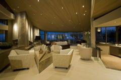 Современное лобби гостиницы Стоковое Изображение