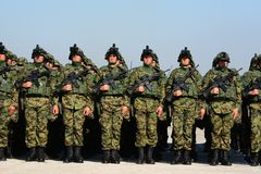 Современное оборудование Серба вооруженного Forces-4 Стоковое Изображение RF