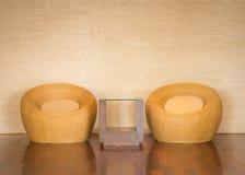 Современное плетеного стула декоративное роскошное Стоковое Фото