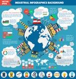 Современное плоское infographics предпосылки города Стоковые Фото