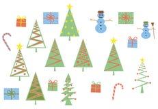 Современное рождества установленное Стоковые Изображения
