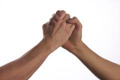 Современное рукопожатие 2 мужских людей Стоковая Фотография RF