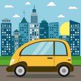 современное солнце города перехода автомобиля Стоковое Изображение