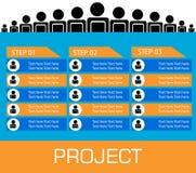 Современное спиральное знамя вариантов infographics Стоковые Изображения