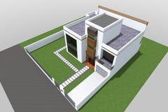 Современное строя 3D Стоковое Изображение