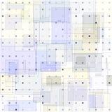 Современное текстурированное полутоновое изображение красочных квадратов и точек бесплатная иллюстрация