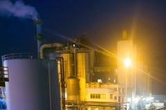Современное химическое производство стоковое изображение