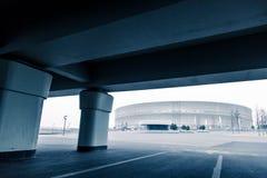 Современное architekture, стадион Wroclaw, холодная концепция тона Стоковые Фотографии RF
