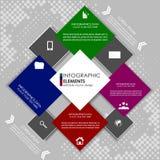 Современное infographic знамя варианта - шаблон Стоковая Фотография RF